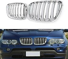 SXPENG Car Chrome Front Grill kidney grills, forX5