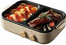 SXXYTCWL Mini 2 in 1 BBQ Hot Pot One Household