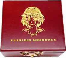 SXYLQFG Princess Mononoke Music Box Carved Wood