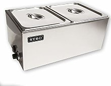 SYBO ZCK Bain Marie Food Warmer 2 Sections (2