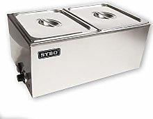SYBO ZCK165A-2 Bain Marie Buffet Food Warmer Steam