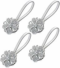 Sycle circle 4 Pack Magnetic Curtain Tie Backs,