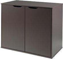 Sykes 2 Door Storage Cabinet Mercury Row Colour: