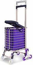 SYLOZ 8 Wheels Folding Shopping Trolley/Seat/30L