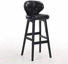 SYLOZ Bar Stools Solid Wood Bar Backrest High