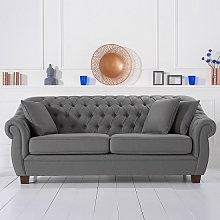 Sylvan Chesterfield Style Fabric 3 Seater Sofa In