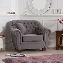 Sylvan Chesterfield Style Fabric Sofa Chair In
