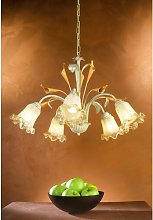 Sylvie 5-Light Shaded Chandelier Lily Manor
