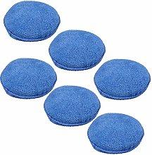 SYLVLE- 6Pcs Universal Blue Microfibre Foam Sponge
