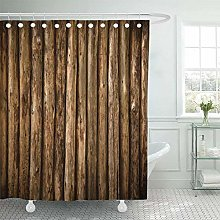 SYLZBHD Brown Cabin Log Wall Wooden from Old