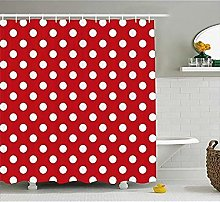 SYLZBHD Retro Shower Curtain Vintage Dots with Big
