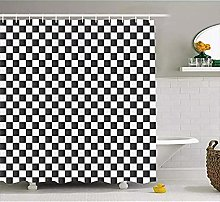SYLZBHD Shower Curtain Monochrome Composition with