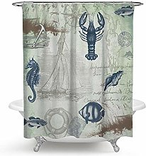 SYLZBHD Waterproof and mildewproof shower curtain