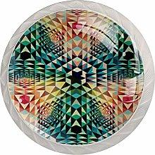 Symmetry Geometry Round Cabinet Knobs 4pcs Knobs