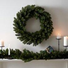 Symons Pre-Lit Wreath – 70cm , Green, One Size