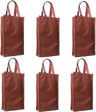 Syndecho Pack of 6 Wine Red Double Wine Bottle