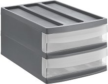 SYSTEMIX Desk Drawer Rotho Colour: Grey