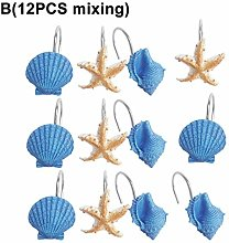 Sytaun Curtain Tiebacks,12Pcs Resin Seashell Conch