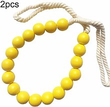 Sytaun Curtain Tiebacks,2Pcs Wooden Beads Curtain