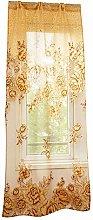 Sytaun Translucent Printed Curtains,Home Door