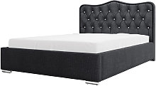 Sytian - Glamorous Bed with Linen Storage and