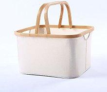 SYyshyin Foldable Fabric Shopping Basket/Bamboo