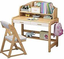 SYyshyin Kids Study Desk Wooden Kids Study Desk