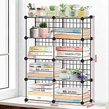 SYyshyin Metal Desk Book Shelves Multilayer Iron