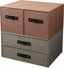 SYyshyin zhuomianshujia Desktop Storage Box Burlap