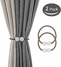 SZFY 2 Pack Magnetic Curtain Tiebacks Drapery