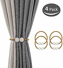 SZFY 4 Pack Magnetic Curtain Tiebacks Drapery