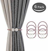 SZFY 6 Pack Magnetic Curtain Tiebacks Drapery