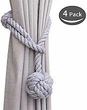 SZFY Curtain Tiebacks, Handmade Natural Cotton