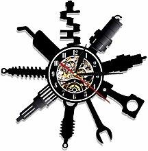 szhao Auto Repair Shop Wall Clock Modern Design