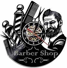 szhao Barber Shop Wall Clock Modern Design