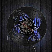 szhao CD Vinyl Record Wall Clock Skull Vintage