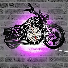 szhao Classic Motorcycle 3D Wall Clock with LED