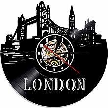 szhao London Digital Wall Clock Modern Design LED