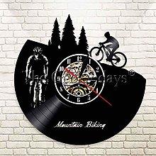 szhao Mountain Bike Vinyl Wall Clock Modern Design