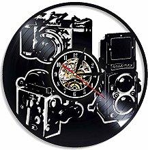 szhao Photography Vinyl Wall Clock Modern Design