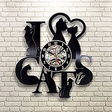 szhao Vinyl Record LED Wall Clock with 7 Lighting