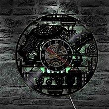 szhao Vinyl Record Wall Clock Modern Design 3D