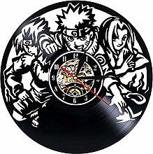 szhao Vinyl Record Wall Clock Modern Design Anime