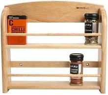 T&G - 12 Jar Scimitar Hevea Wood Wall Spice Rack -