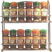T&G Chrome Filled 12 Jar Spice Rack, 300x280x50mm