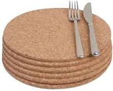 T&G - Cork Round Table Mats (Set of 6) - cork