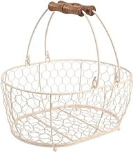 T&G Provence Wireware Medium Oval Basket with Aged