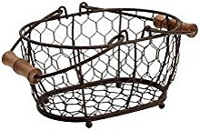 T&G Provence Wireware Small Oval Basket with Aged