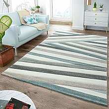 T&T Design Modern Rug Living Room With Stripes