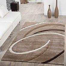 T&T Design Short Pile Living Room Rug Modern With